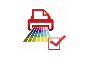 Wydruk próbny dla potwierdzenia zgodności projektu z zakłądaną paletą barw do złożonego zamówienia.