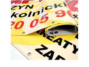 Baner reklamowy, wzmacniane krawędzie, oczka metalowe w cenie