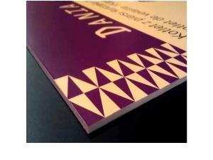 Usztywnienie wydruku z folii samoprzylepnej na piance