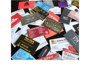Wizytówki, etykiety papierowe
