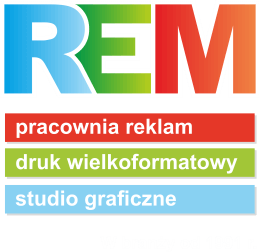REM pracownia reklam, druk wielkoformatowy, studio graficzne