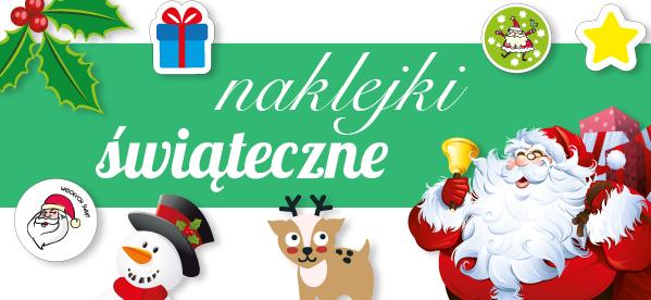 Naklejki świąteczne, druk na indywidualne zamówienie, naklejki, REM pracownia reklam.