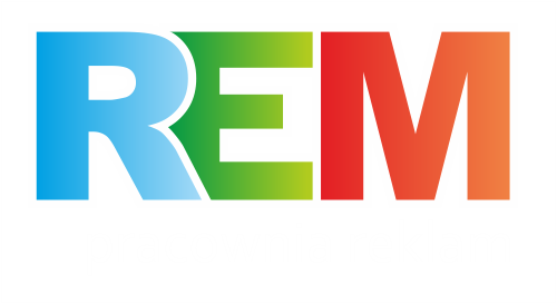 REM pracownia reklam, druk wielkoformatowy, naklejki Warszawa.